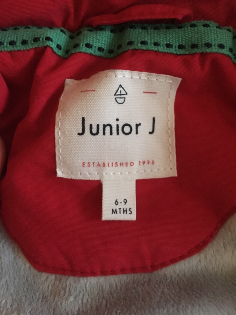 Junior j from Debenhams red winter coat 6-9 months