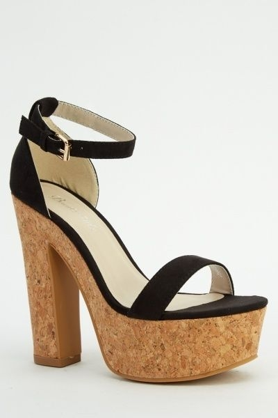 Size 7 brand new black Suede sandals