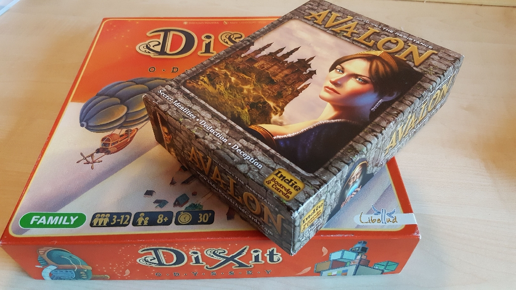 Dixit Odyssey board game and AVALON The Resistance board game