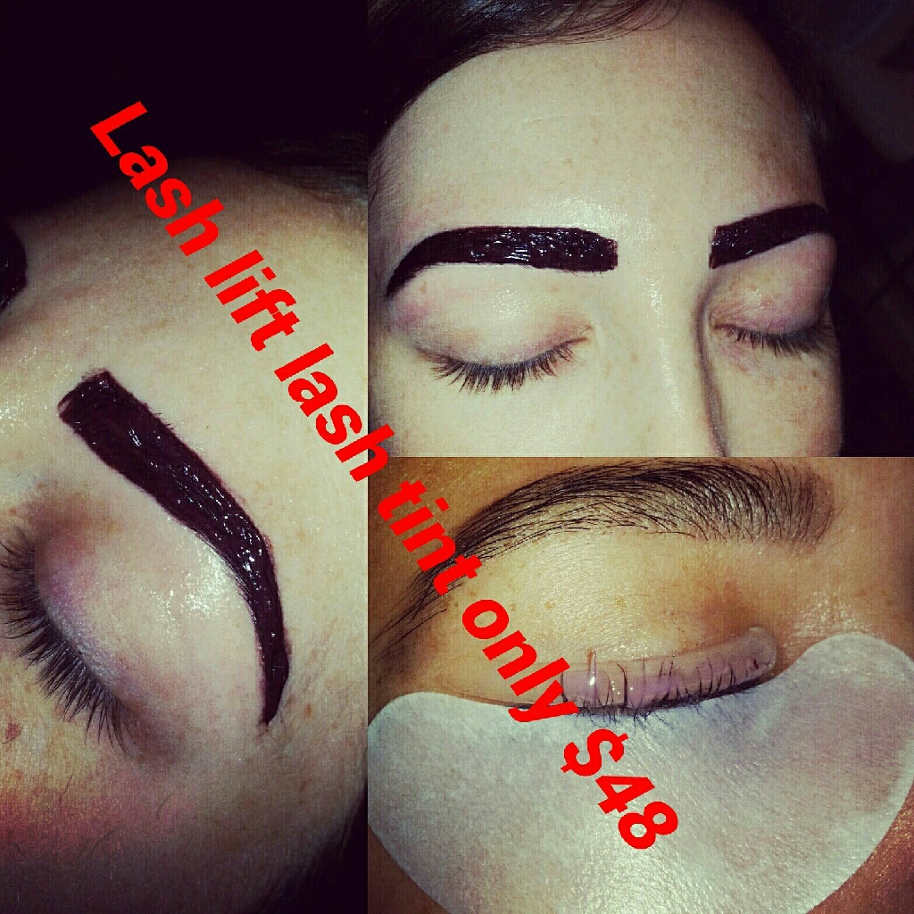 Threading waxing eyelashes extension henna