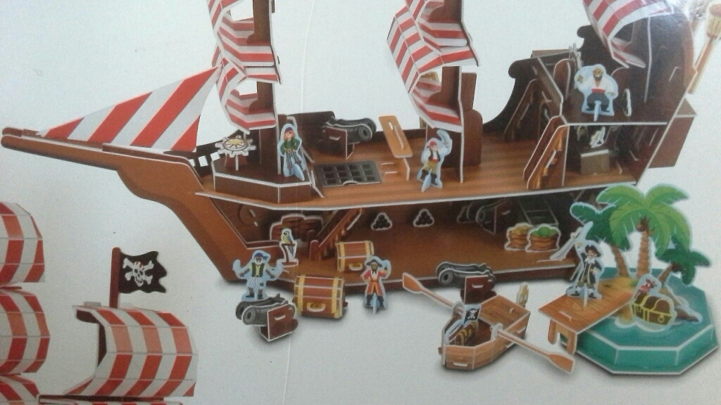 Pirate ship 3-D puzzle