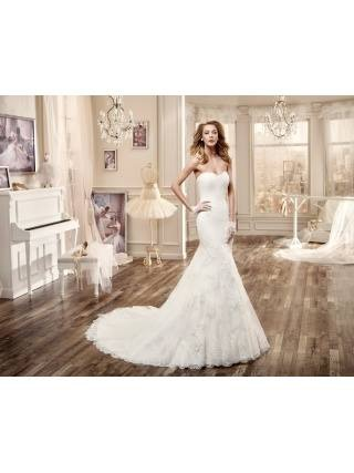 Ivory Pink Nicole Spose Wedding Dress
