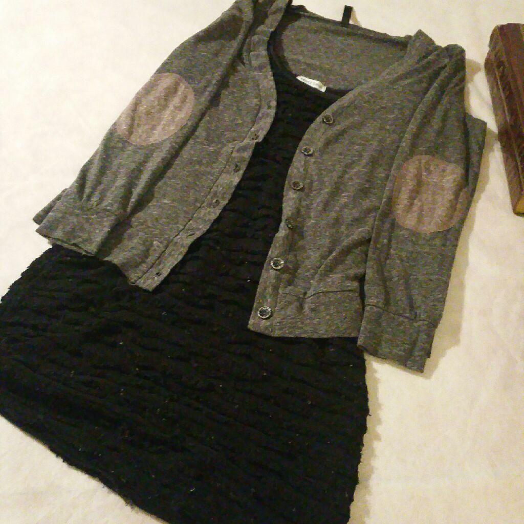 Velvet dress with a bear Dance blouse