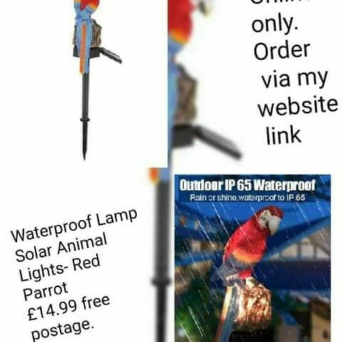 💥Waterproof Lamp Solar Animal Lights- Red Parrot 💥£14.99 🚚free delivery 💥10% off is automatically applied at checkout.