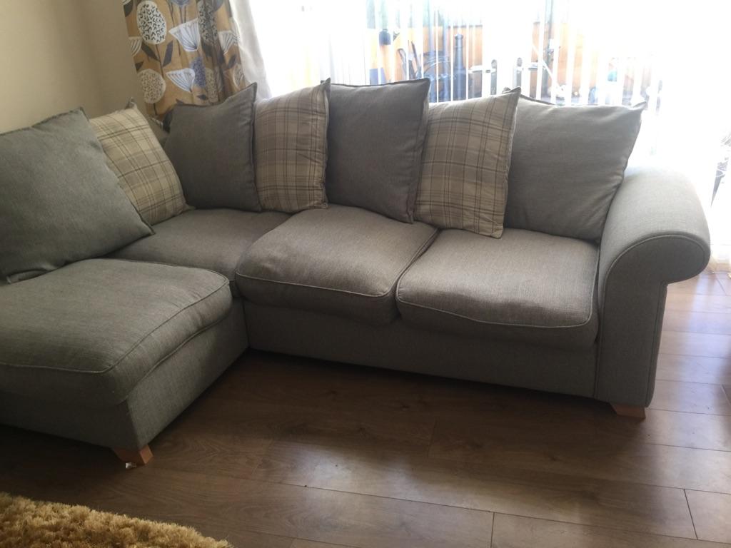Dfs corner sofa and storage footstool