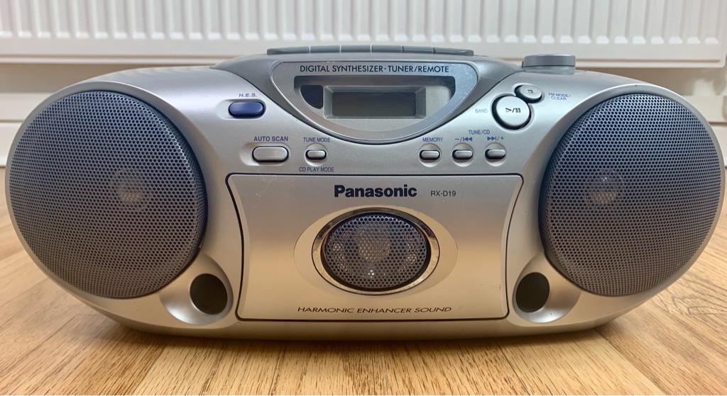 Retro Panasonic RX-D19 Stereo Cassette/CD Player