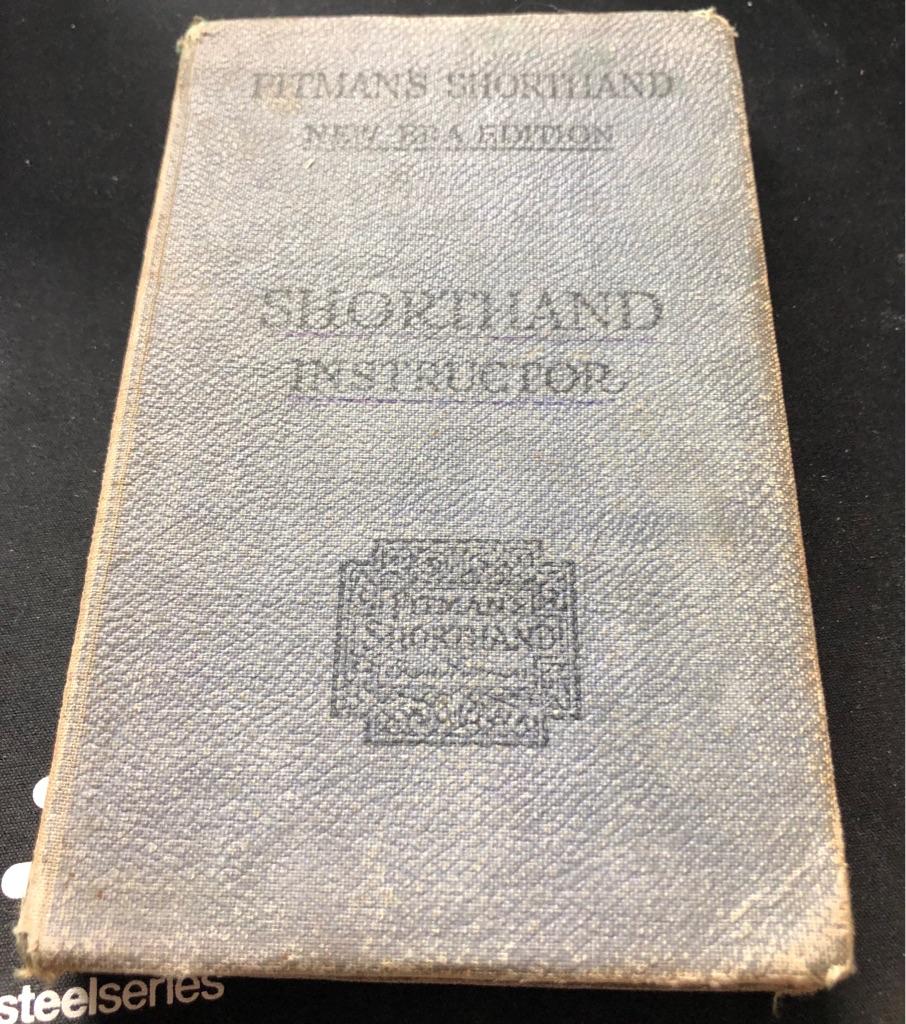 VINTAGE PITMAN'S SHORTHAND INSTRUCTOR BOOK
