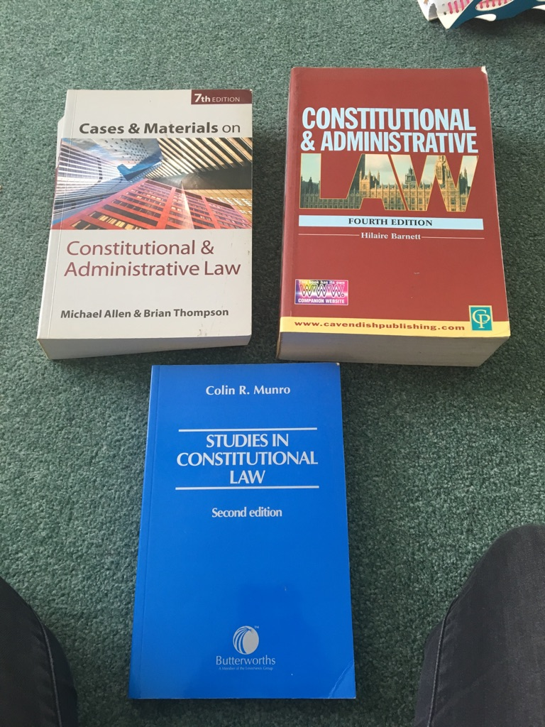 Various law books