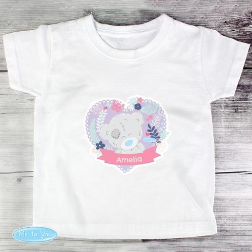 Personalised tiny tatty teddy girl's t-shirt