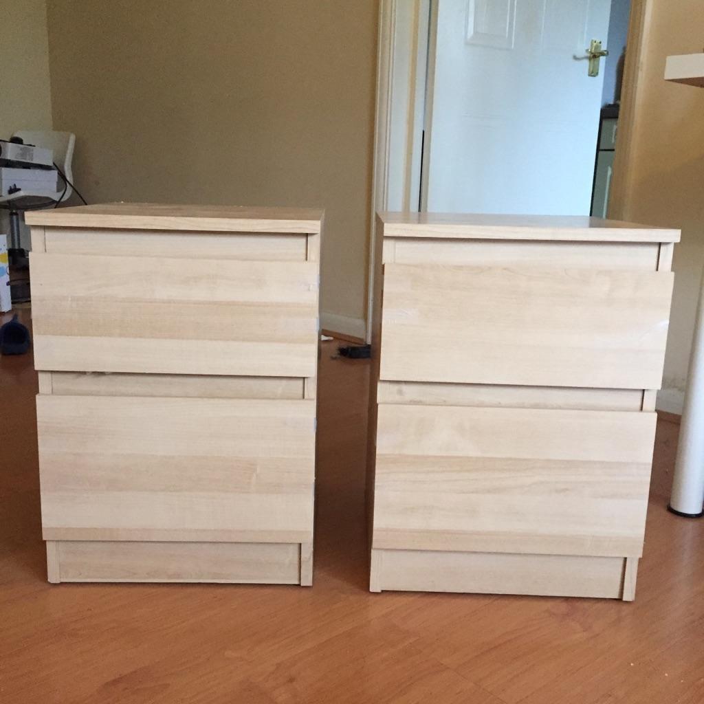Two Ikea bedside tables