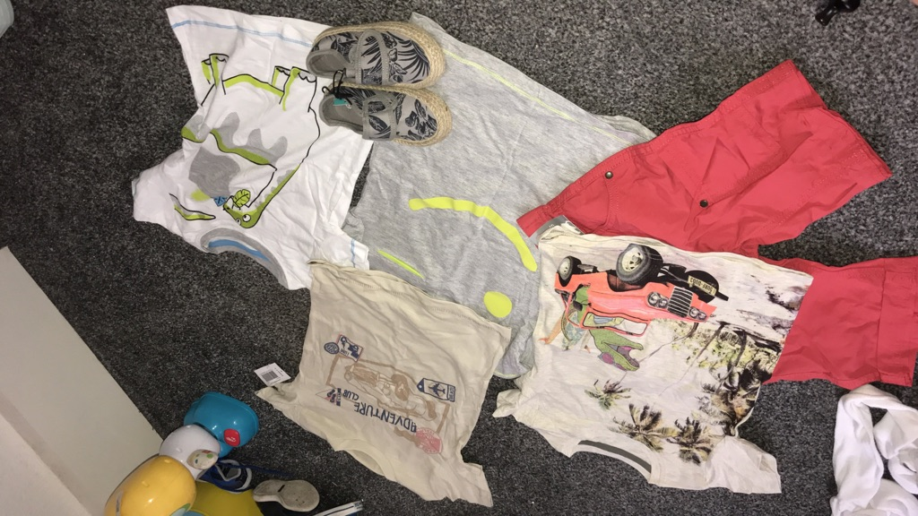 Baby boy tshirts and shorts and shoes