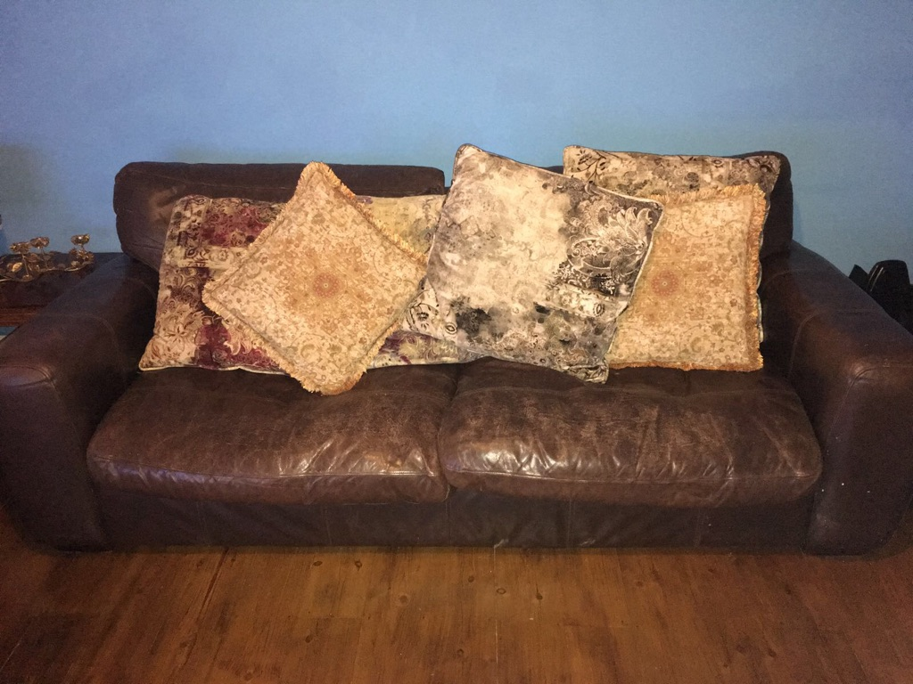 Vintage leather sofas x2