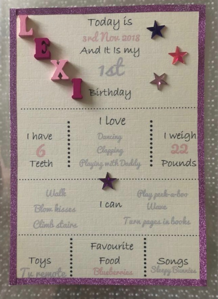 Birthday Memory Card