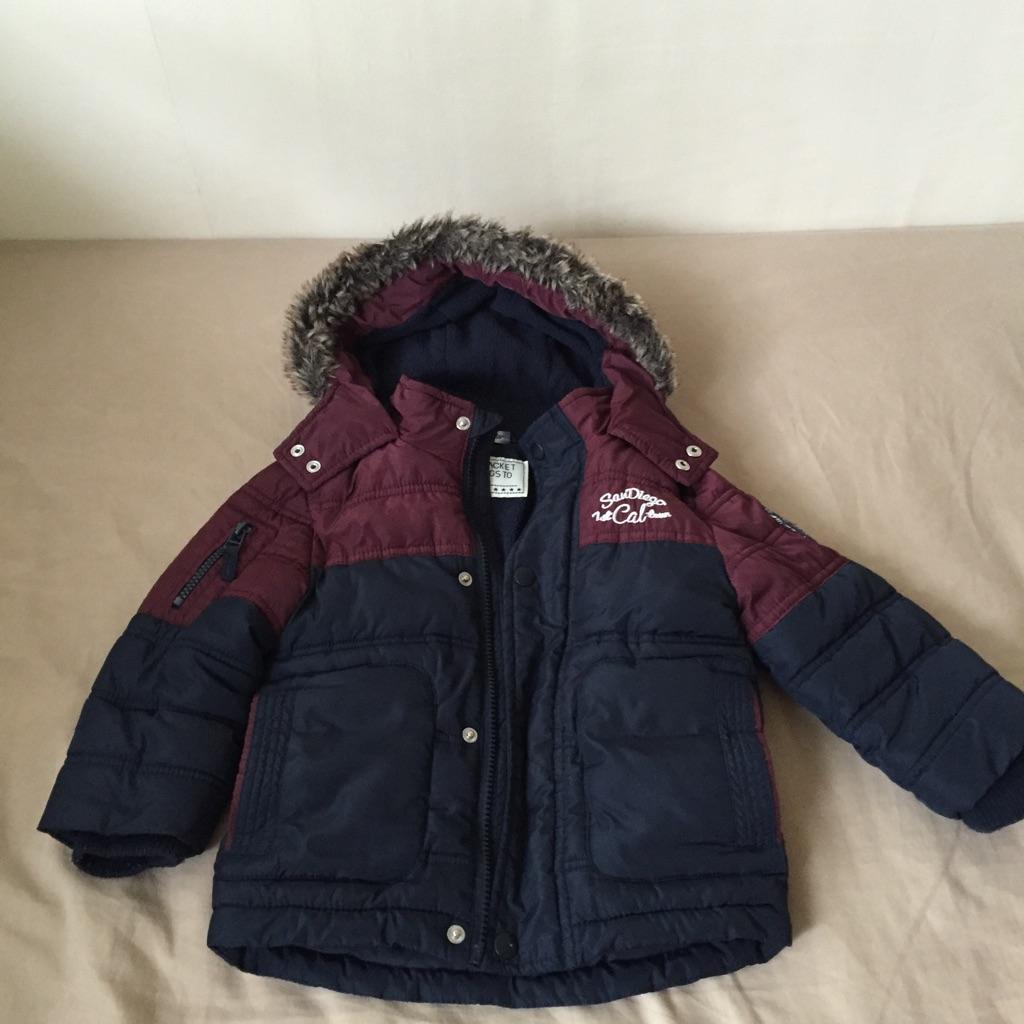 Warm toddler boy coat