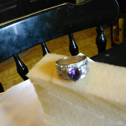 Amazing Purple Heart Ring