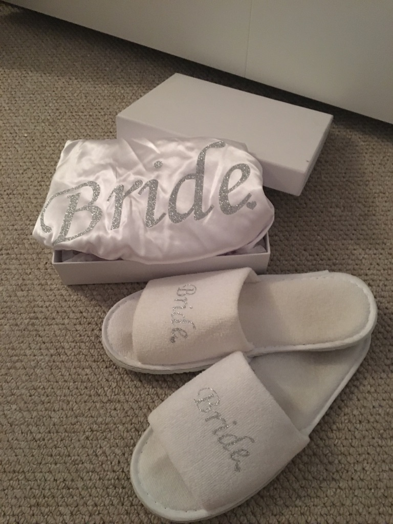 Bridal robe and slippers