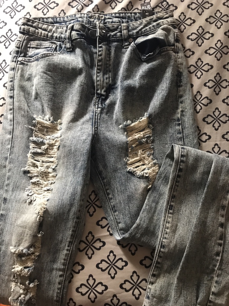 Dinged out jeans