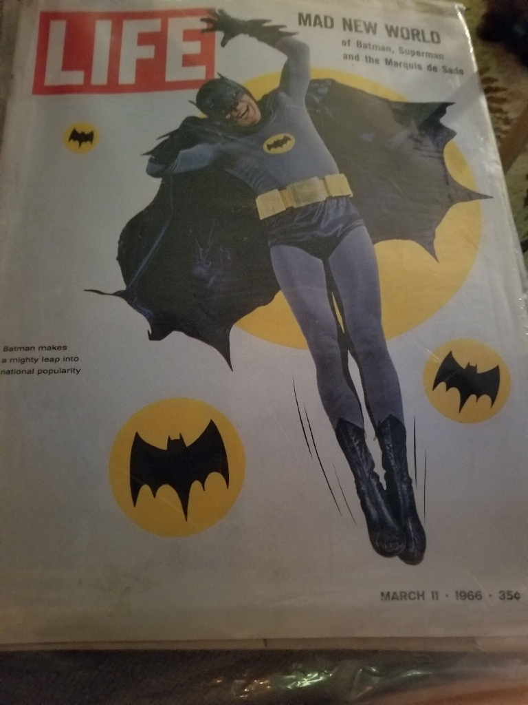 LIFE MAGAZINE MARCH 11, 1966  WITH ADAM WEST BATMAN