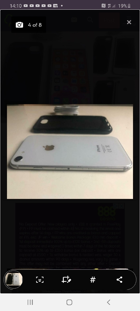 Iphone 8 like new 128gb