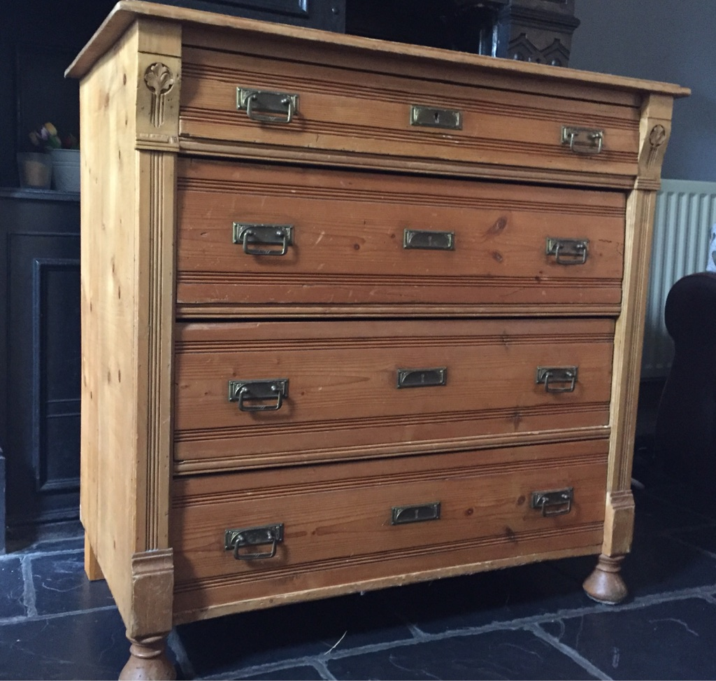 Antique four drawer chest. Vintage/Shabby Chic *SOLD*