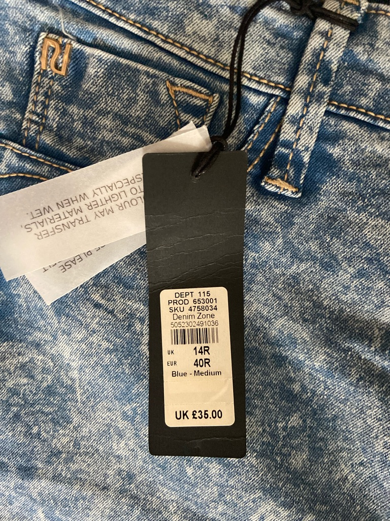 BRAND NEW RIVER ISLAND MOLLY JEANS SIZE 14R