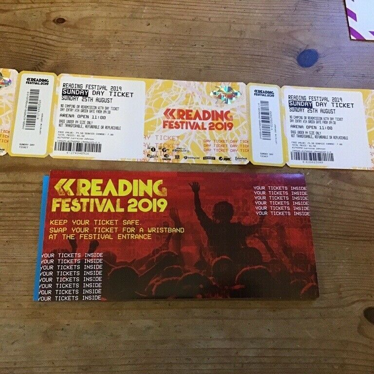 Reading day tickets