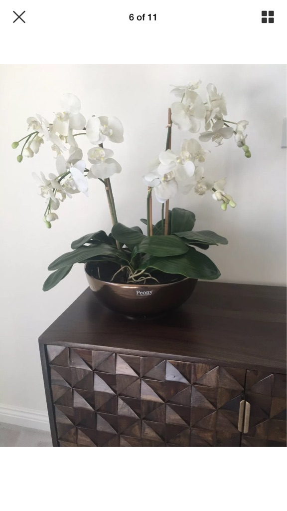 Large faux orchid by PEONY