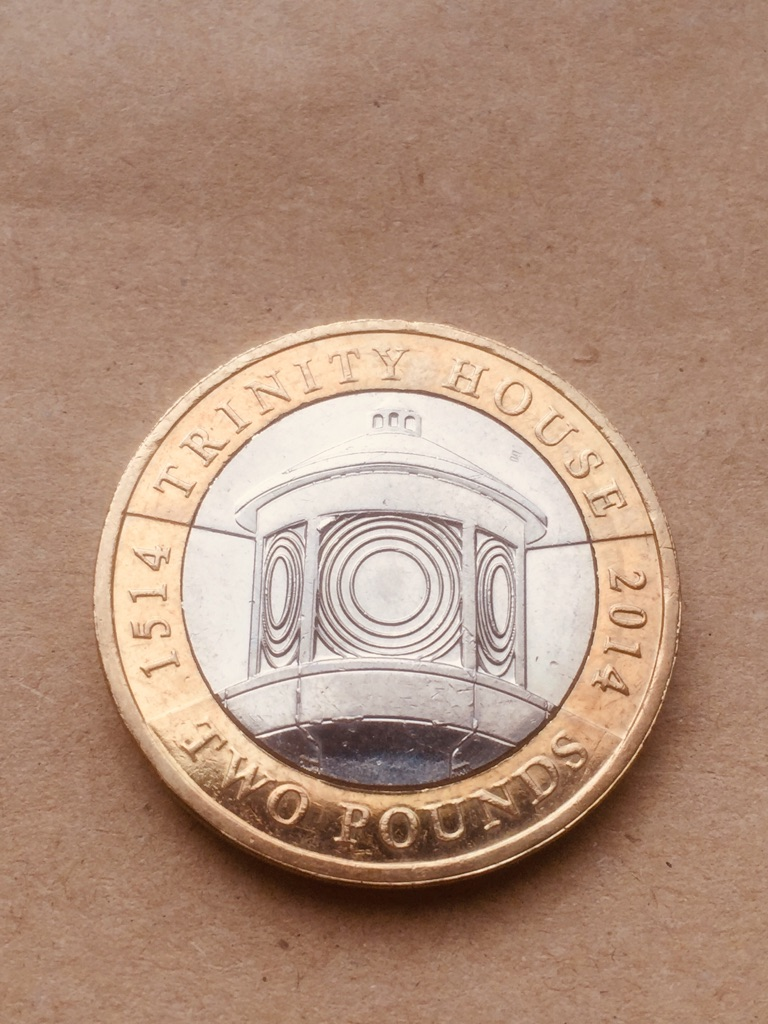2 pound coin trinity house 2014.