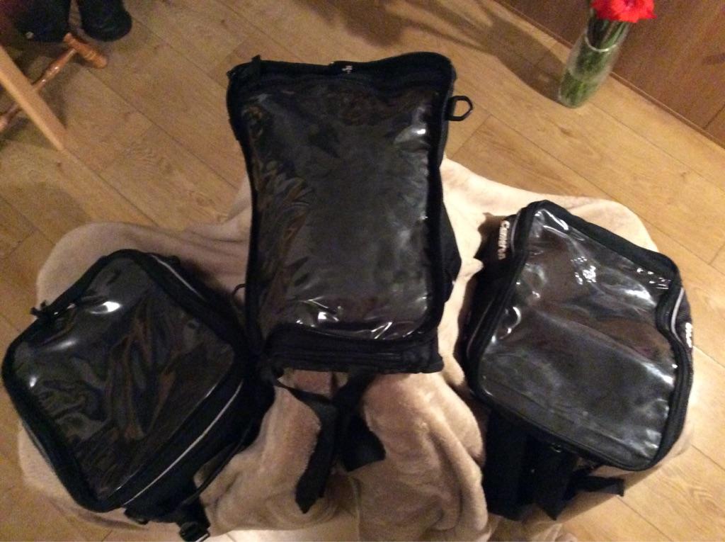 Cameron 'saddle' motor bike bags