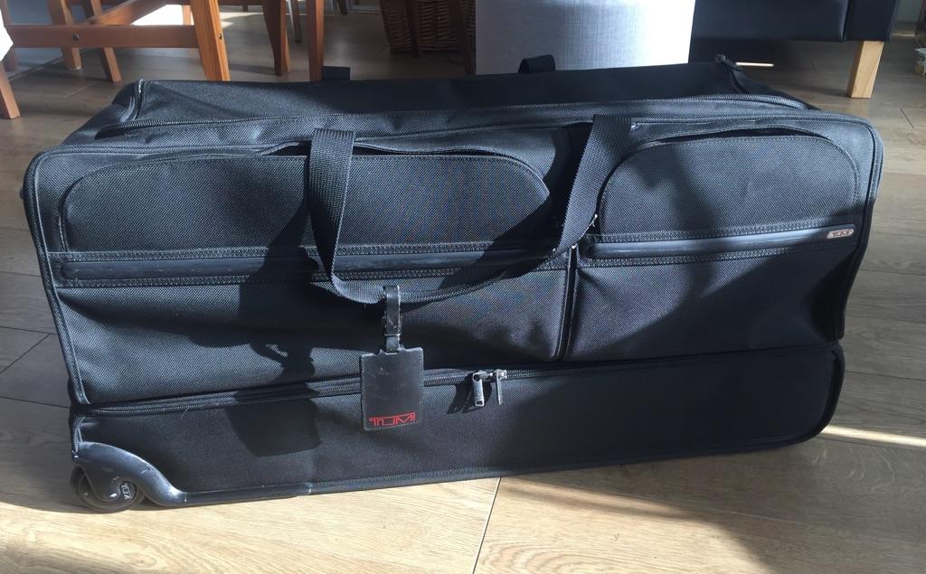 Tumi Black Extra Large Wheeled Duffle Bag