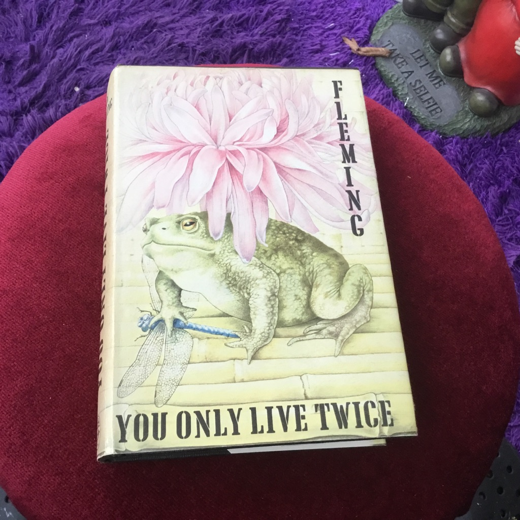 You only live twice first edition Ian Fleming 1964 original black cloth cover with Chinese symbols hardback VGC