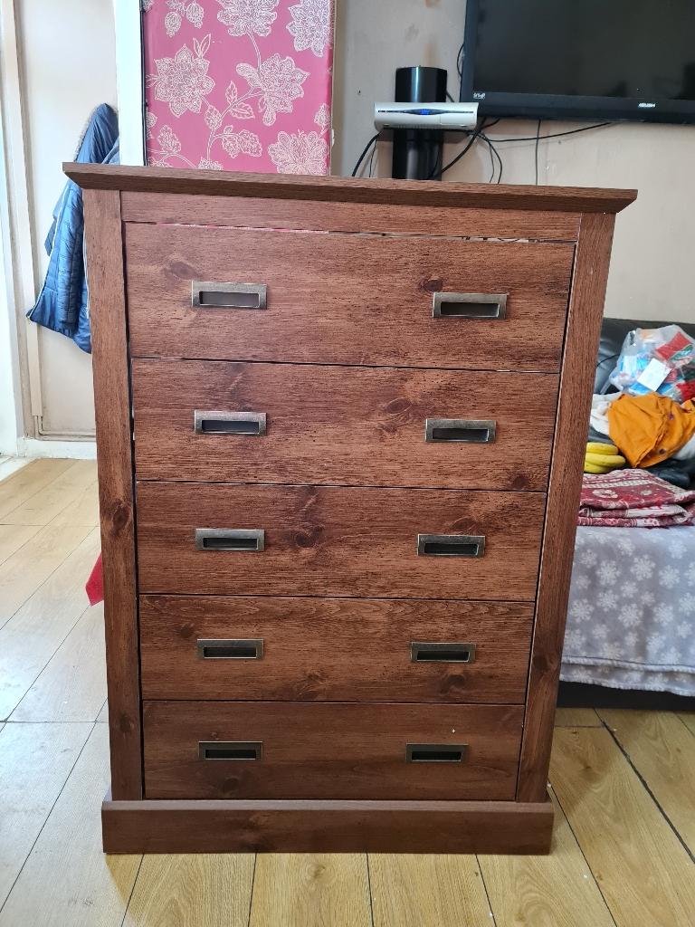 New walnut colour drawer £125