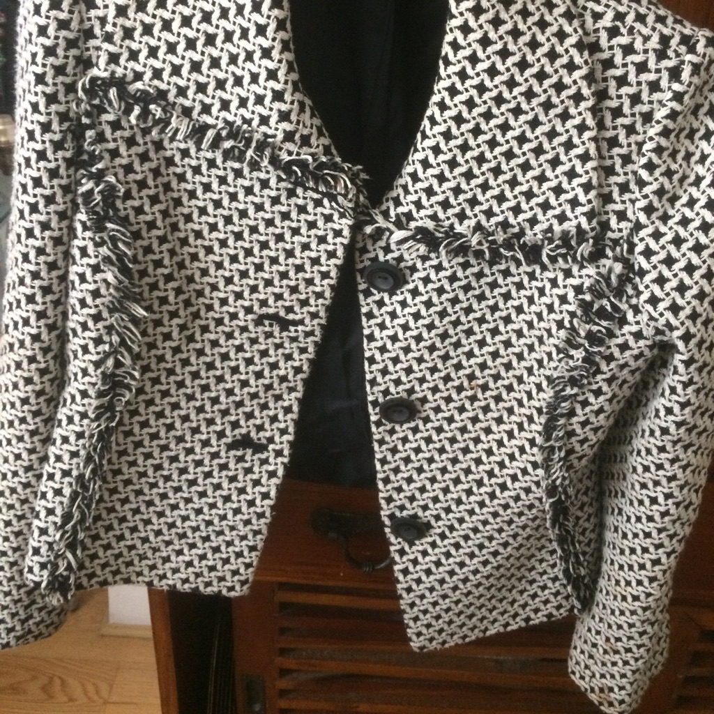 Black and white jacket size 10-12