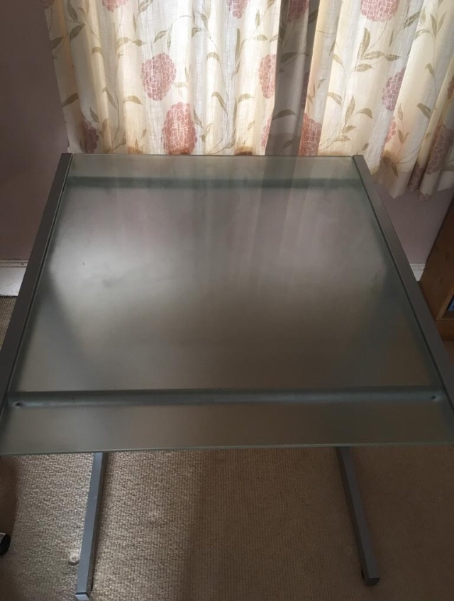 John Lewis frosted glass desk