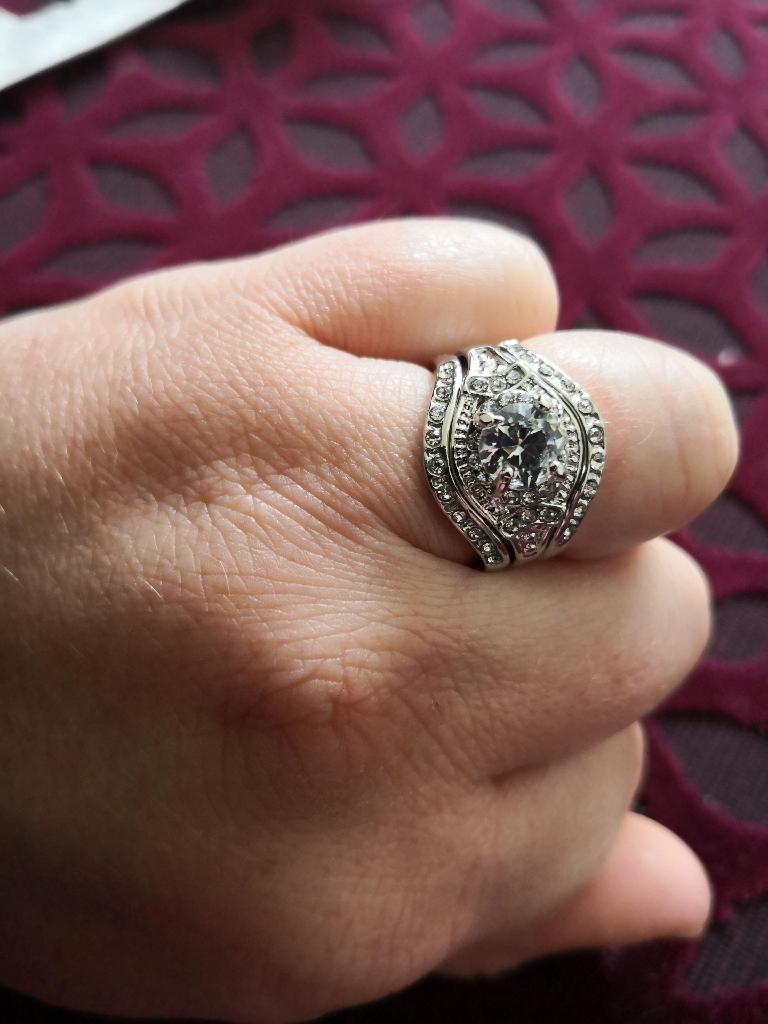 Ladies silver ring Set