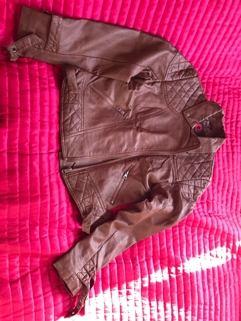 Brown faux Leather Jacket Size Medium