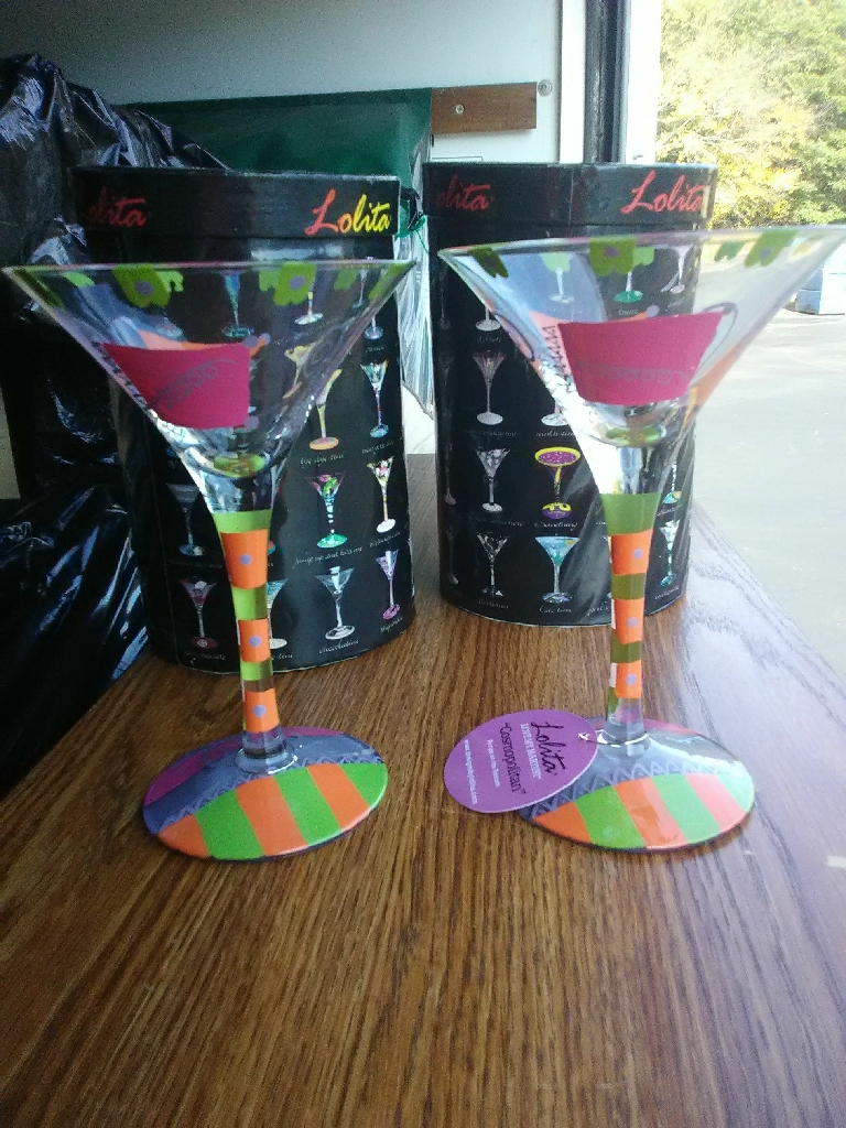 Set of 2 Lolita Martini Glasses