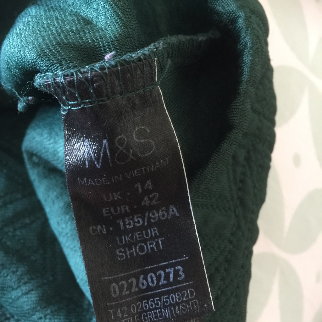Size 14 dark green textured dress from M&S collection