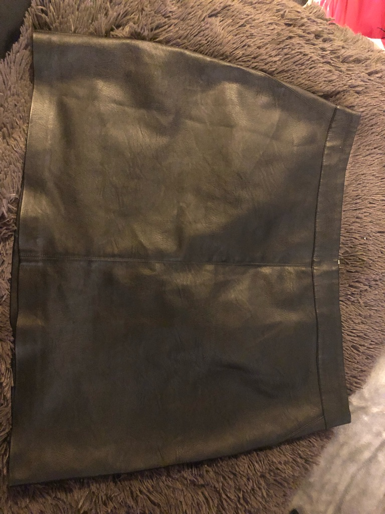 OASIS Size UK 16 PU Leather Skirt
