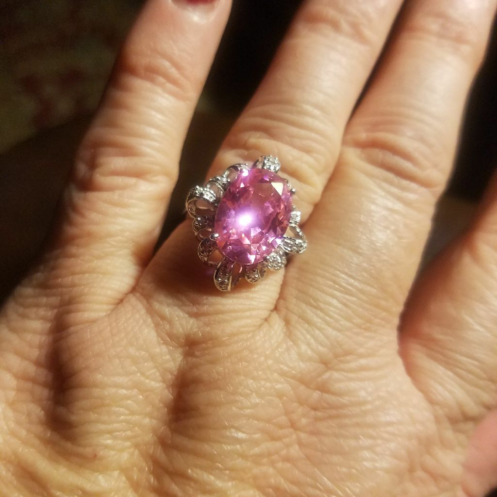 Pink with diamond