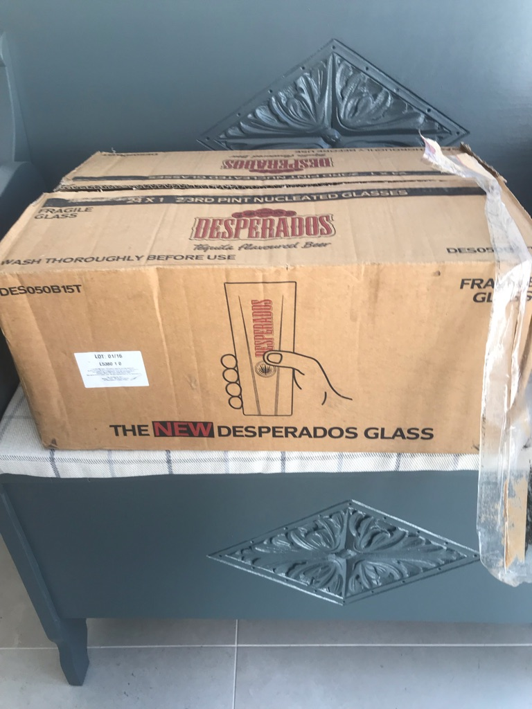 24 new Desperados 2/3 pint glasses