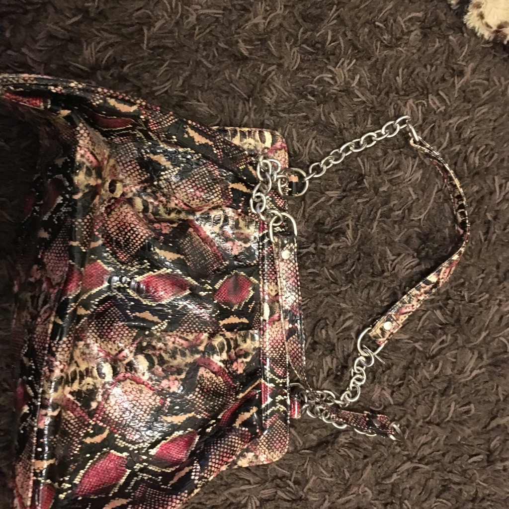 Snakeskin look bag