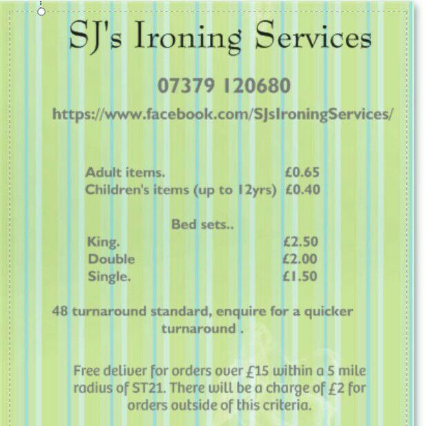SJ's Ironing Services