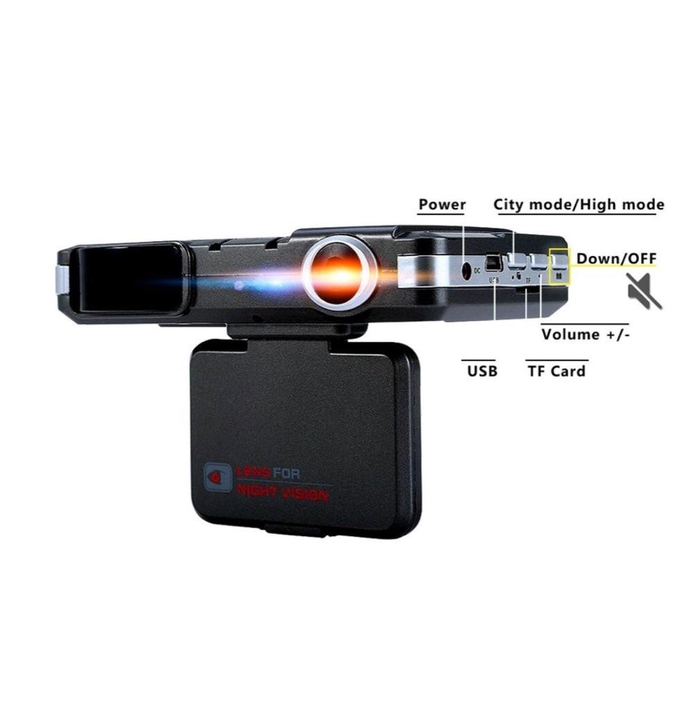 CARMATE 2 in 1 Radar Detector Camera and Car DVR HD