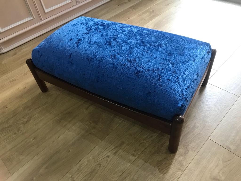 John Lewis velvet footstool