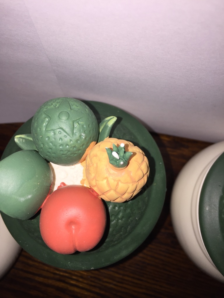 Set of four new boxed fruit pots