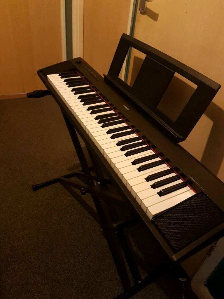 Yamaha NP12 digital keyboard with X stand, Norwich.