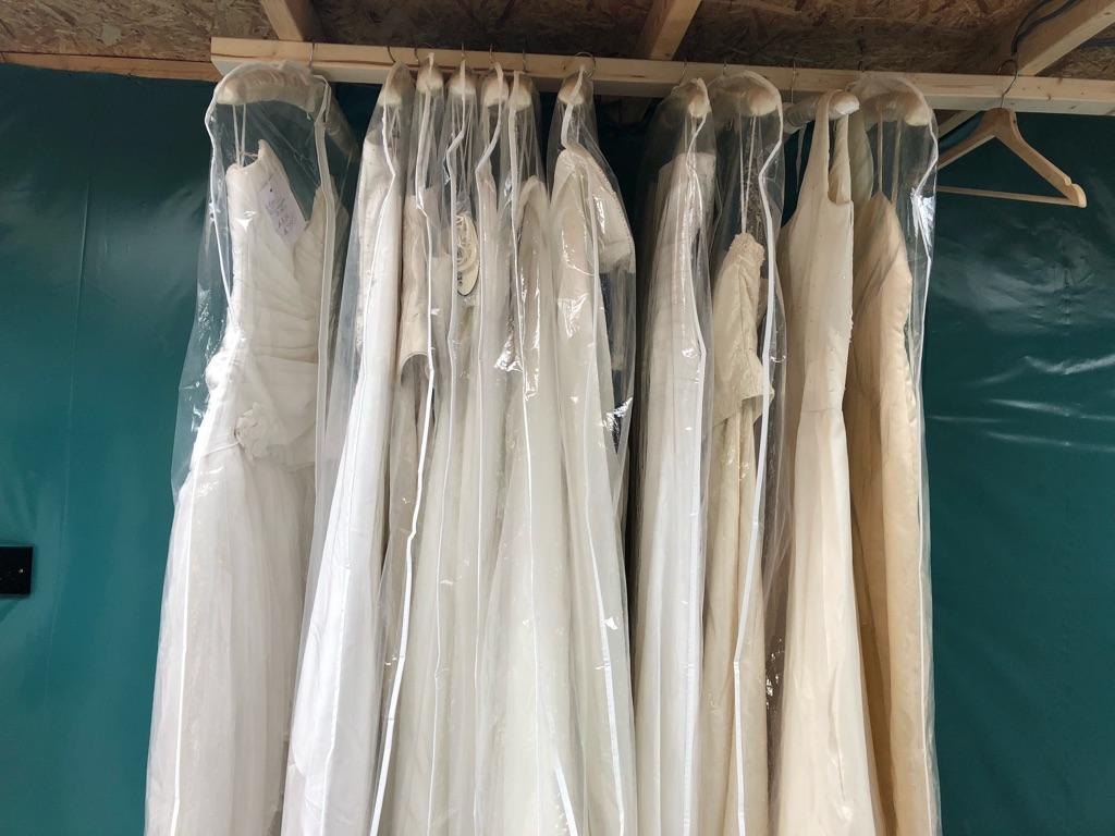 Job lot of 11 wedding dresses