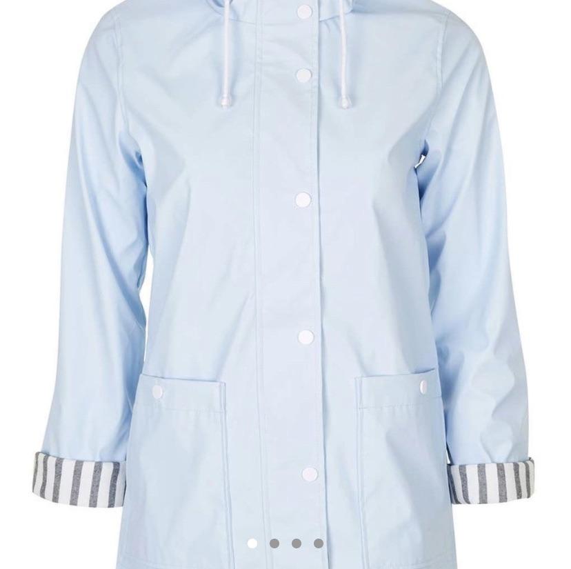 Blue topshop rain coat