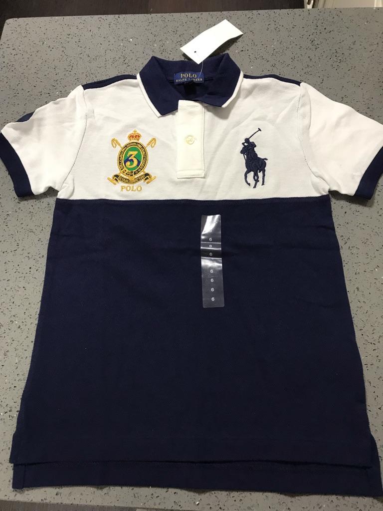 Ralph Lauren Navy & White Polo Top NWT Size 6